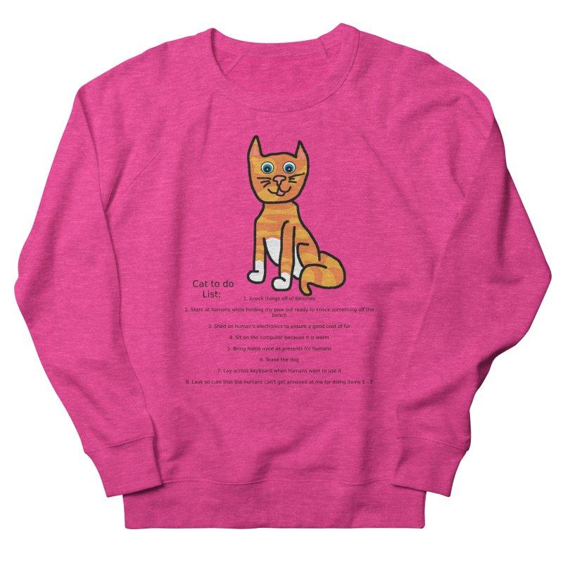 To Do Cat Men's French Terry Sweatshirt by Birchmark