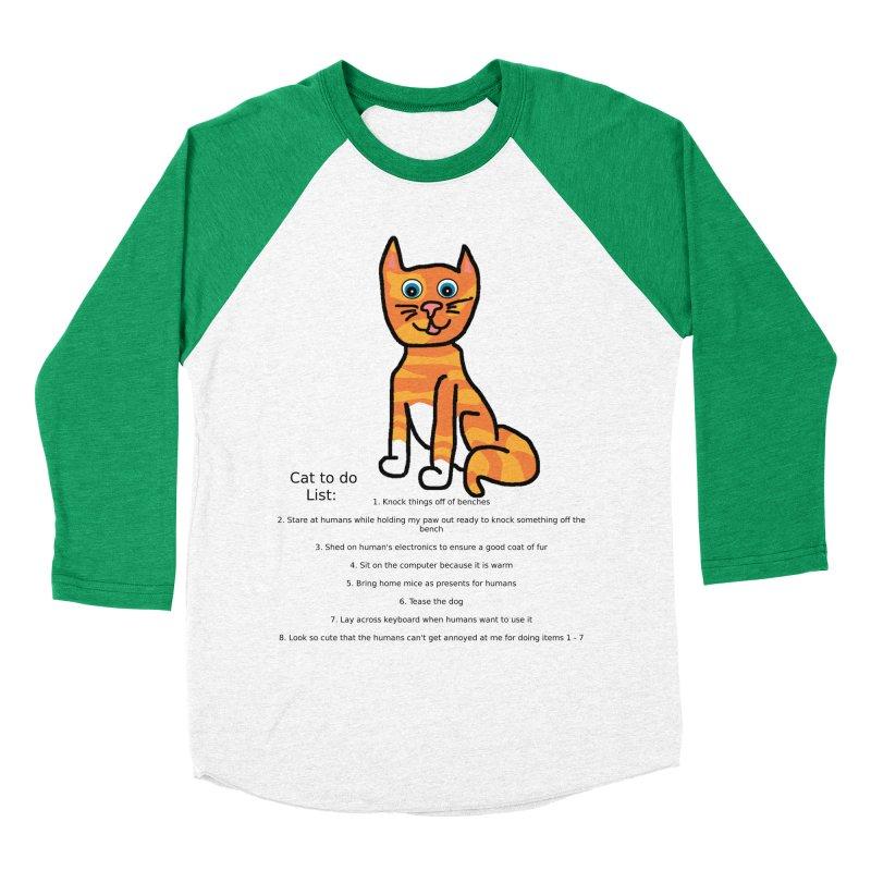 To Do Cat Women's Baseball Triblend Longsleeve T-Shirt by Birchmark