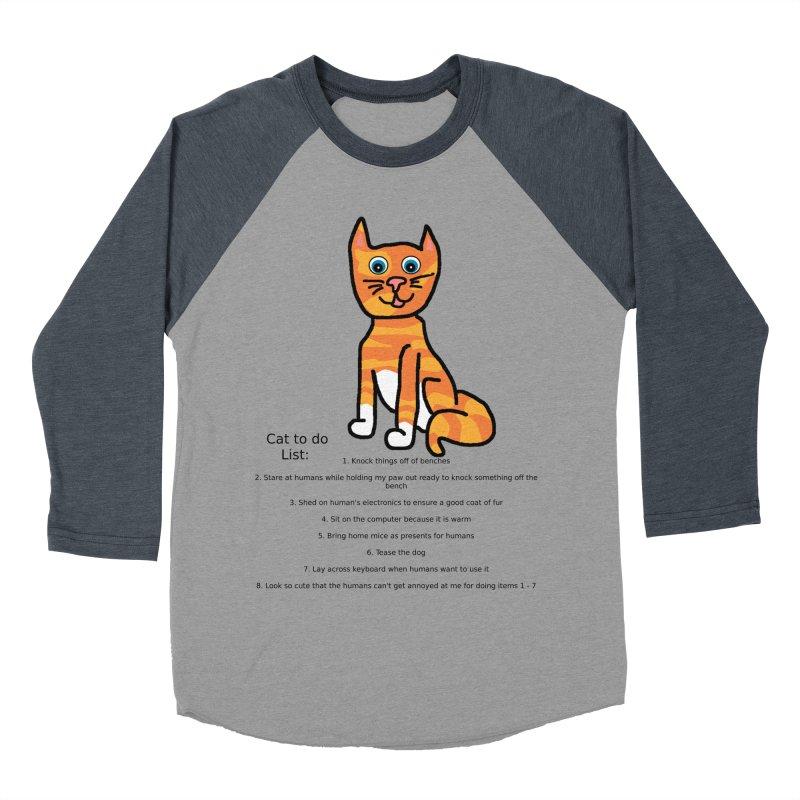To Do Cat Women's Baseball Triblend T-Shirt by Birchmark