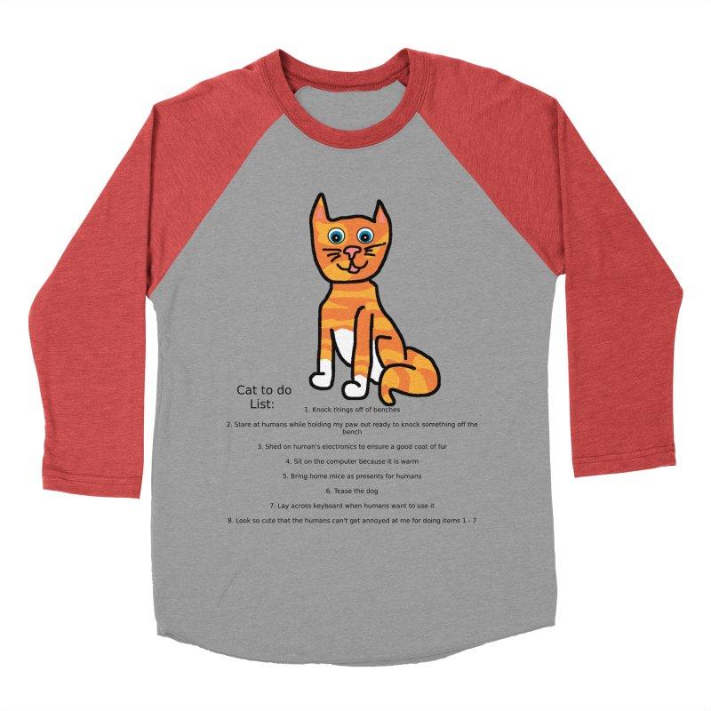 To Do Cat Men's Baseball Triblend T-Shirt by Birchmark