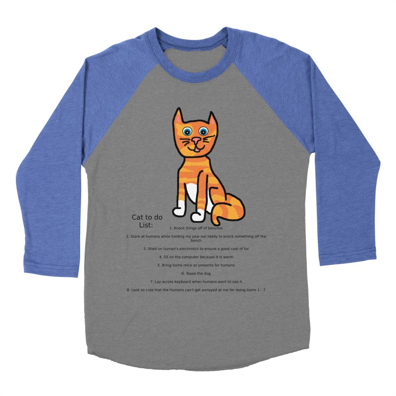 To Do Cat Men's Baseball Triblend T-Shirt by Birchmark
