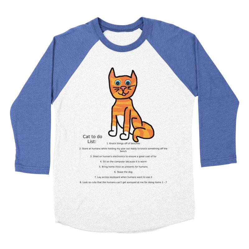 To Do Cat Men's Baseball Triblend Longsleeve T-Shirt by Birchmark