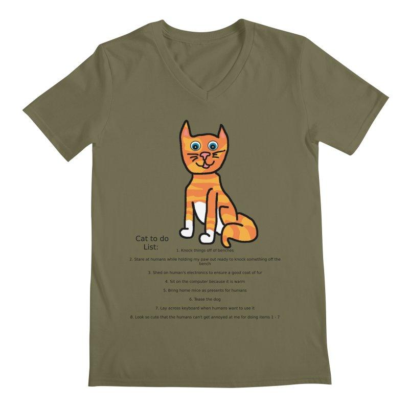 To Do Cat Men's V-Neck by Birchmark