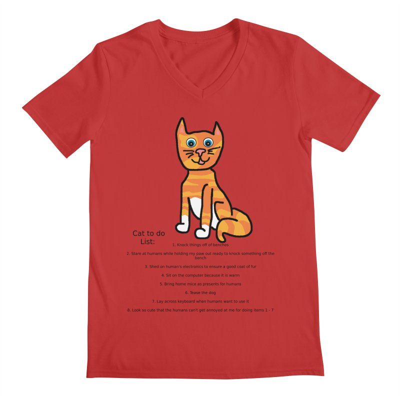 To Do Cat Men's Regular V-Neck by Birchmark