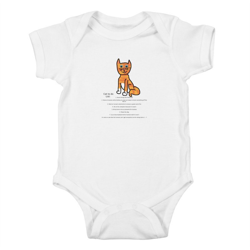 To Do Cat Kids Baby Bodysuit by Birchmark