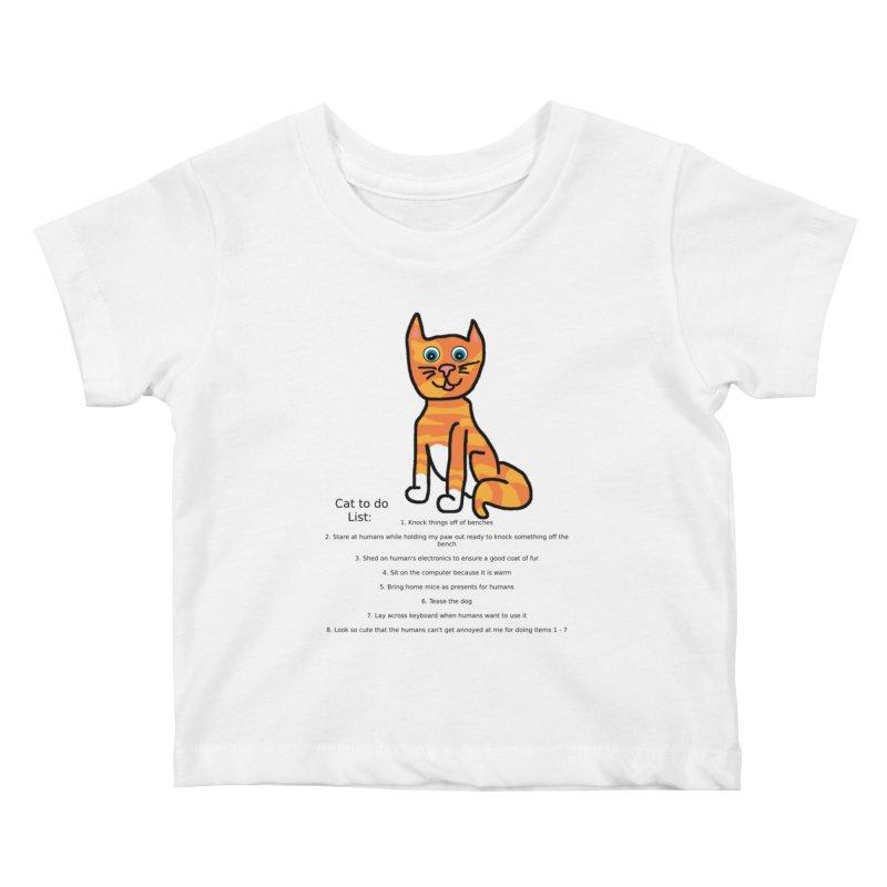 To Do Cat Kids Baby T-Shirt by Birchmark