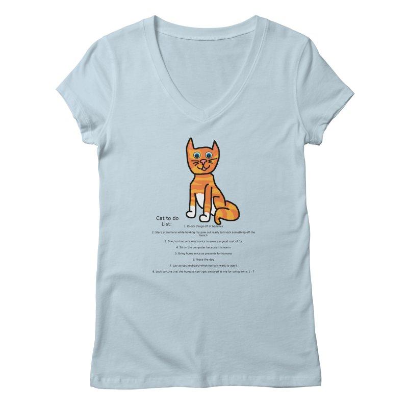 To Do Cat Women's V-Neck by Birchmark