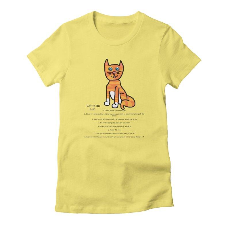 To Do Cat Women's T-Shirt by Birchmark