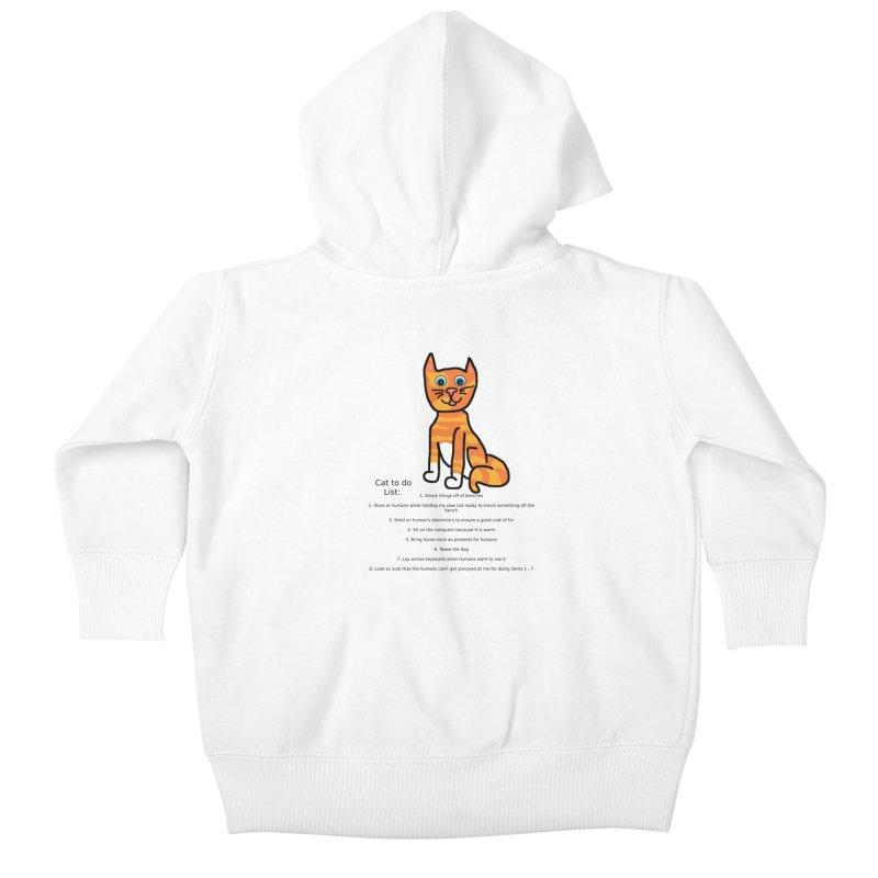 To Do Cat Kids Baby Zip-Up Hoody by Birchmark