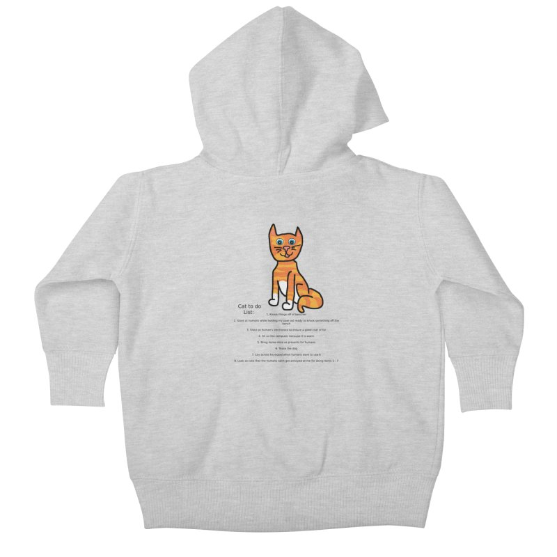 To Do Cat Kids Baby Zip-Up Hoody by Birchmark