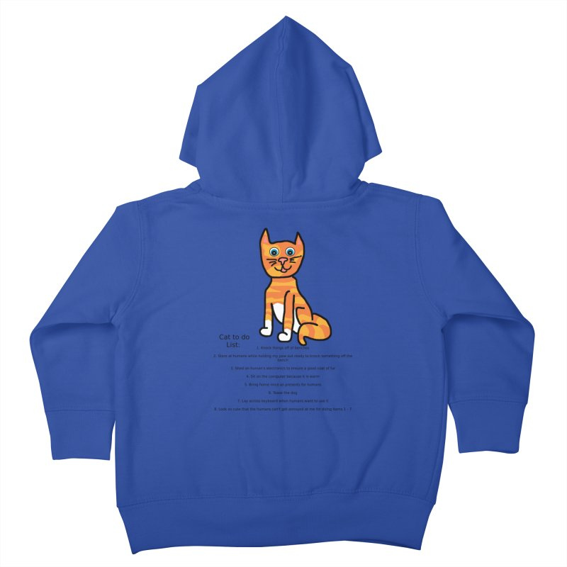 To Do Cat Kids Toddler Zip-Up Hoody by Birchmark