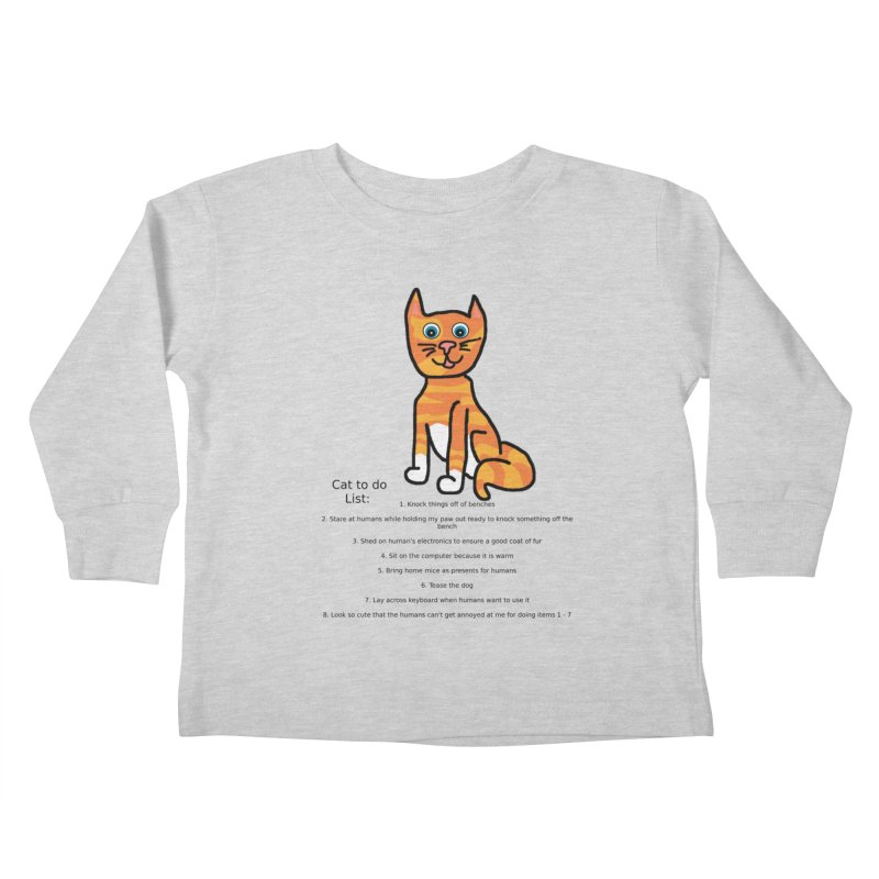 To Do Cat Kids Toddler Longsleeve T-Shirt by Birchmark