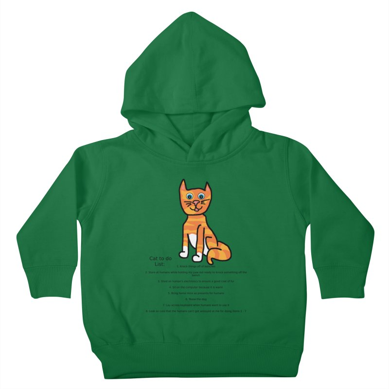 To Do Cat Kids Toddler Pullover Hoody by Birchmark
