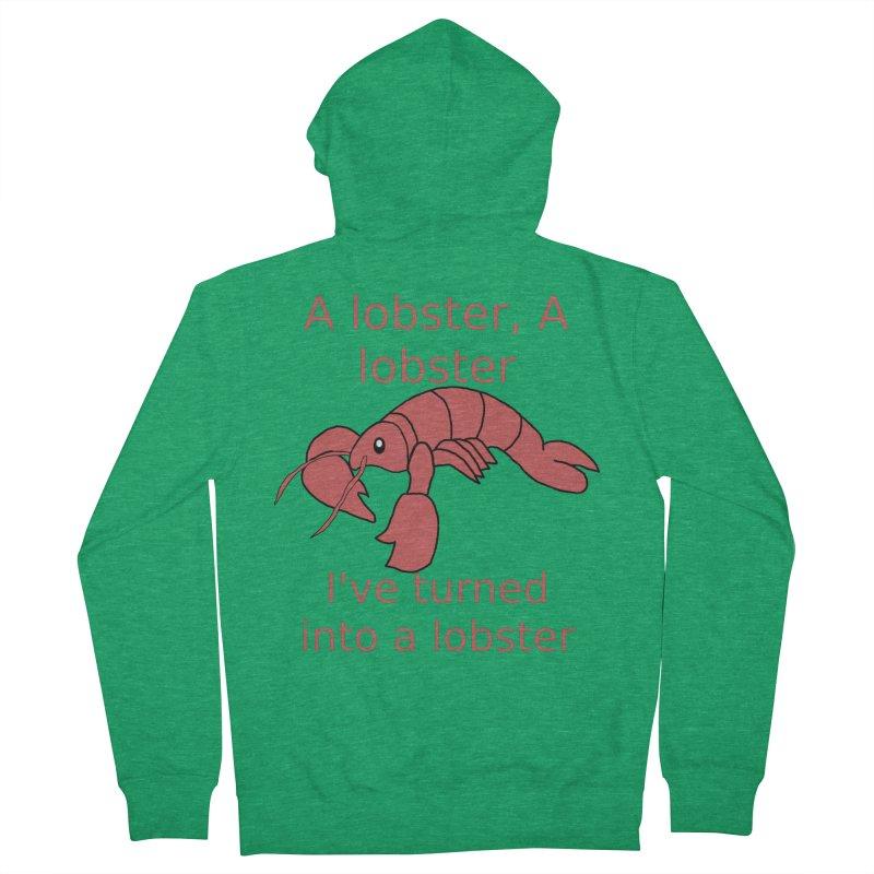 Lobster - Misheard Song Lyric #3 Men's Zip-Up Hoody by Birchmark