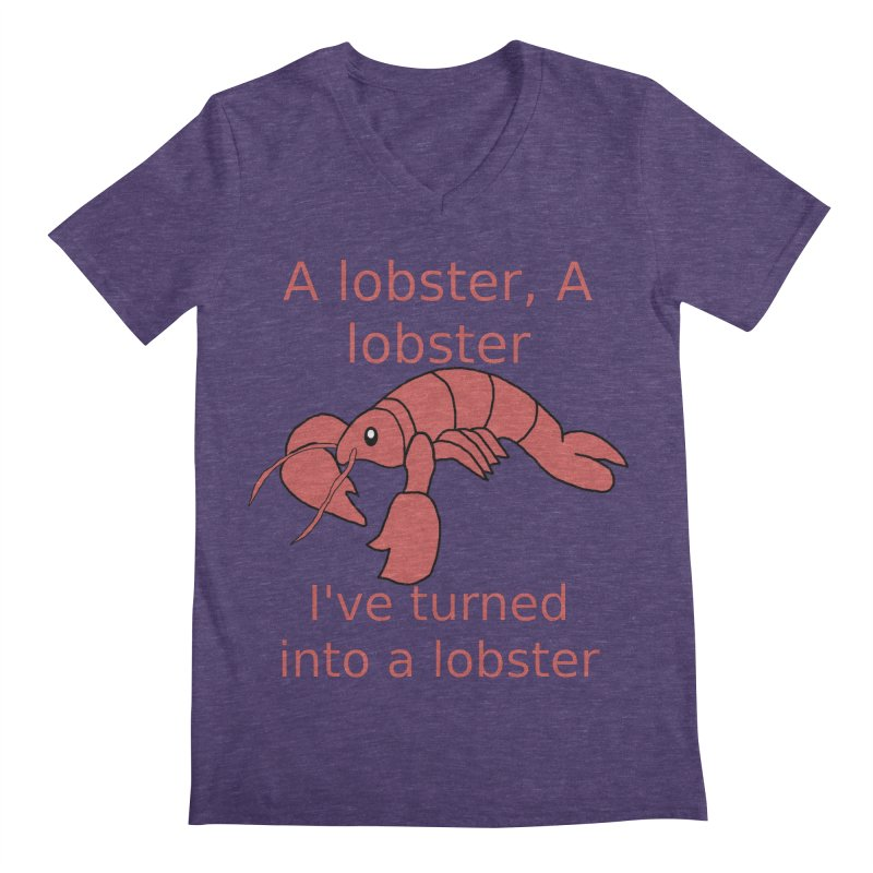 Lobster - Misheard Song Lyric #3 Men's Regular V-Neck by Birchmark