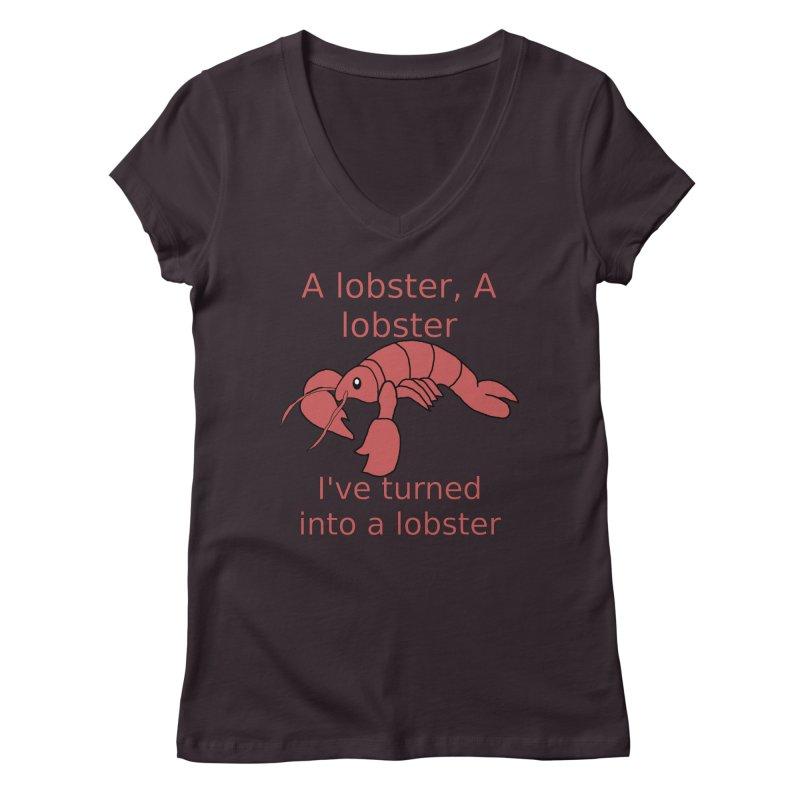 Lobster - Misheard Song Lyric #3 Women's V-Neck by Birchmark