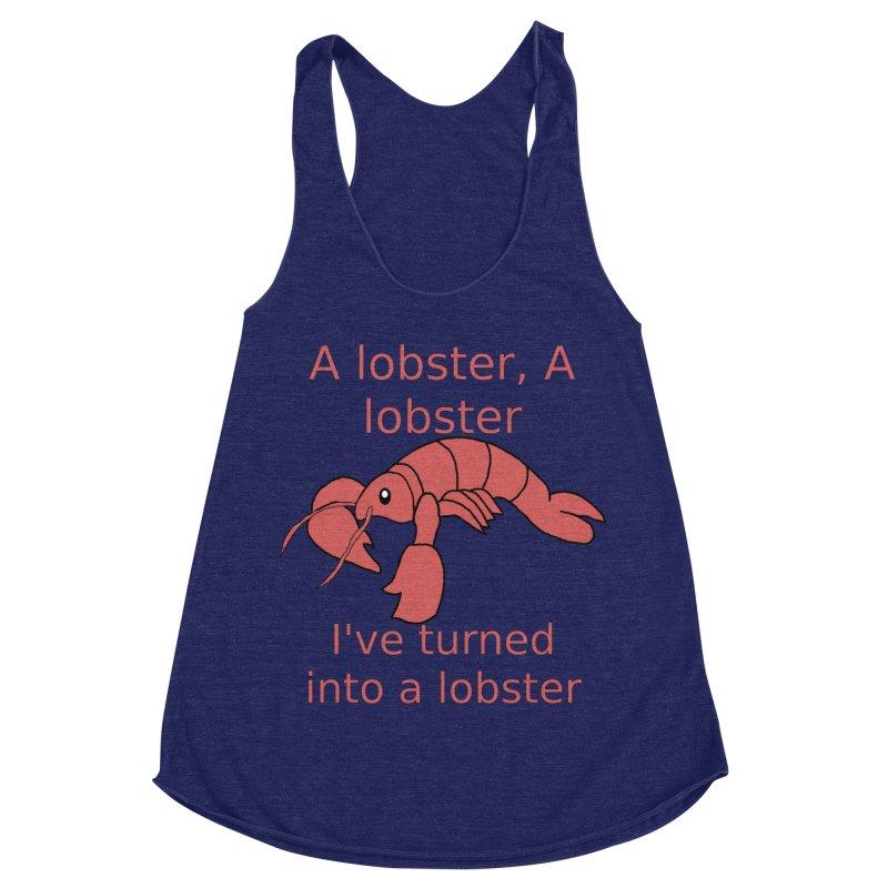 Lobster - Misheard Song Lyric #3 Women's Racerback Triblend Tank by Birchmark