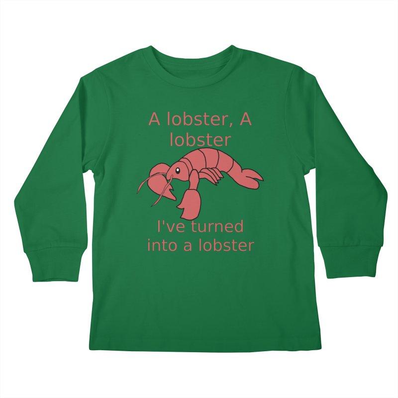 Lobster - Misheard Song Lyric #3 Kids Longsleeve T-Shirt by Birchmark