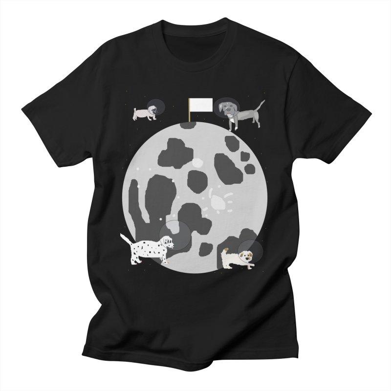 Moon Puppies Men's T-Shirt by Birchmark