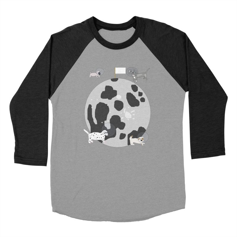 Moon Puppies Women's Baseball Triblend Longsleeve T-Shirt by Birchmark