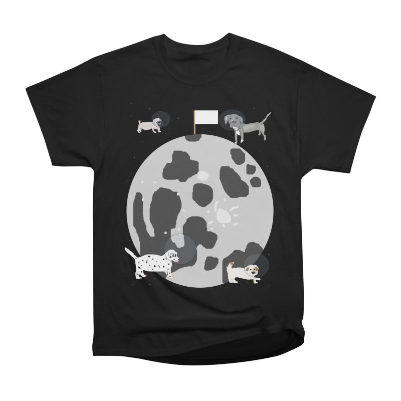 Moon Puppies Men's Heavyweight T-Shirt by Birchmark