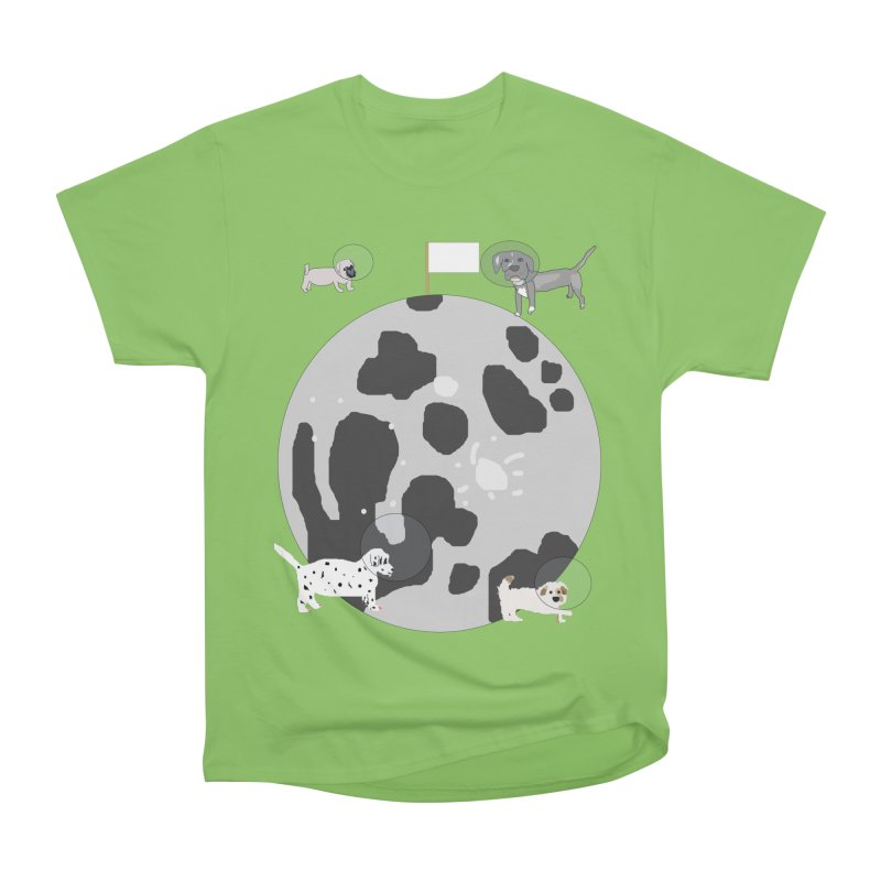 Moon Puppies Men's Heavyweight T-Shirt by Birchmark