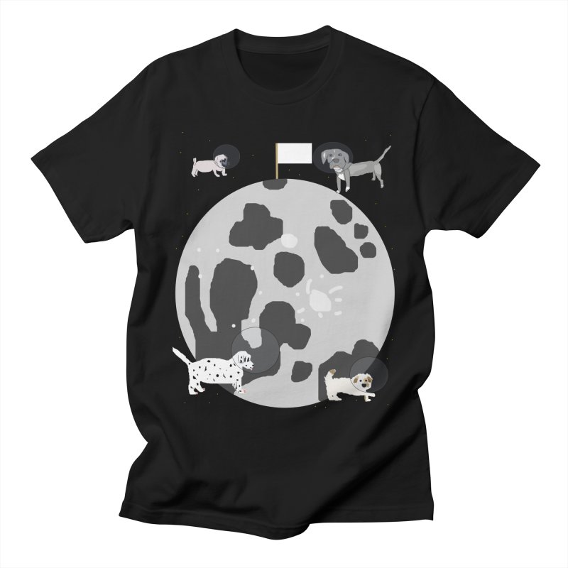 Moon Puppies Men's T-Shirt by Birchmark