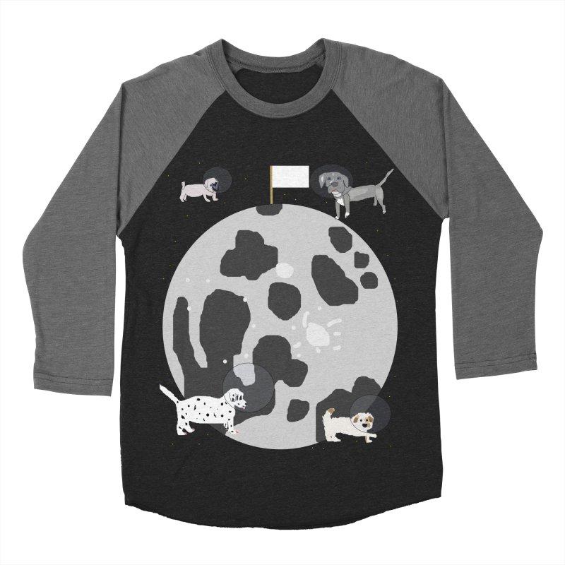 Moon Puppies Men's Baseball Triblend Longsleeve T-Shirt by Birchmark