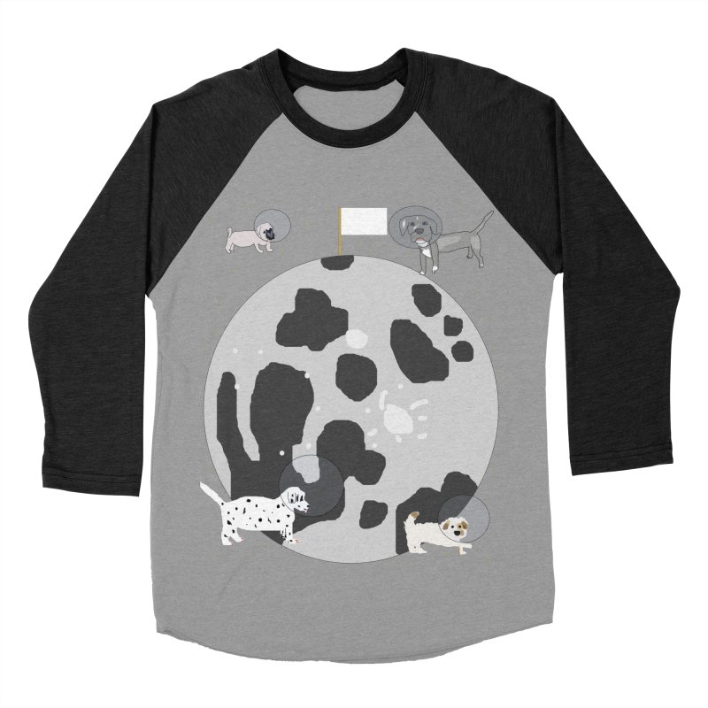 Moon Puppies Men's Baseball Triblend T-Shirt by Birchmark