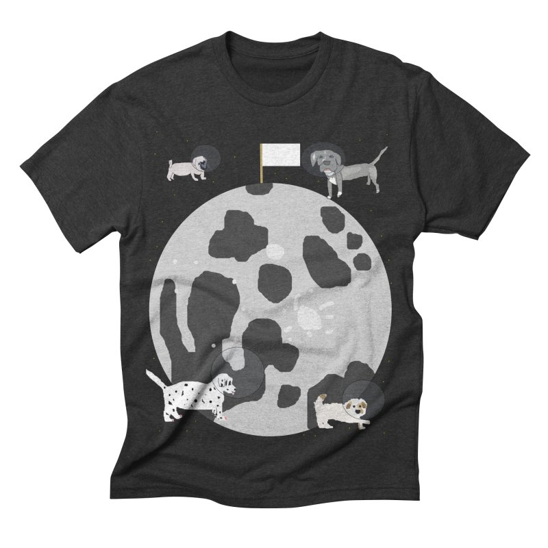 Moon Puppies Men's Triblend T-shirt by Birchmark
