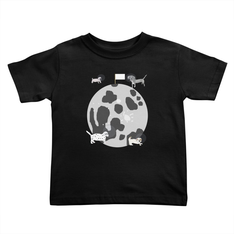 Moon Puppies Kids Toddler T-Shirt by Birchmark