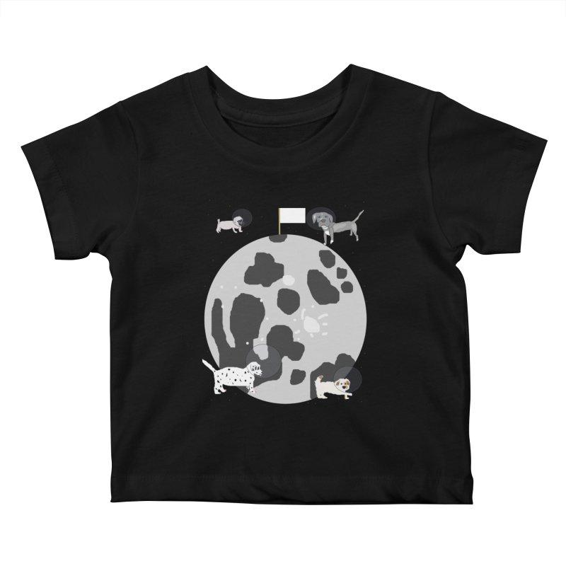 Moon Puppies Kids Baby T-Shirt by Birchmark