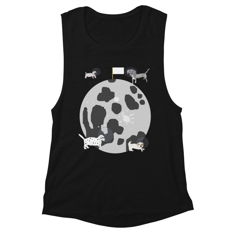 Moon Puppies Women's Muscle Tank by Birchmark