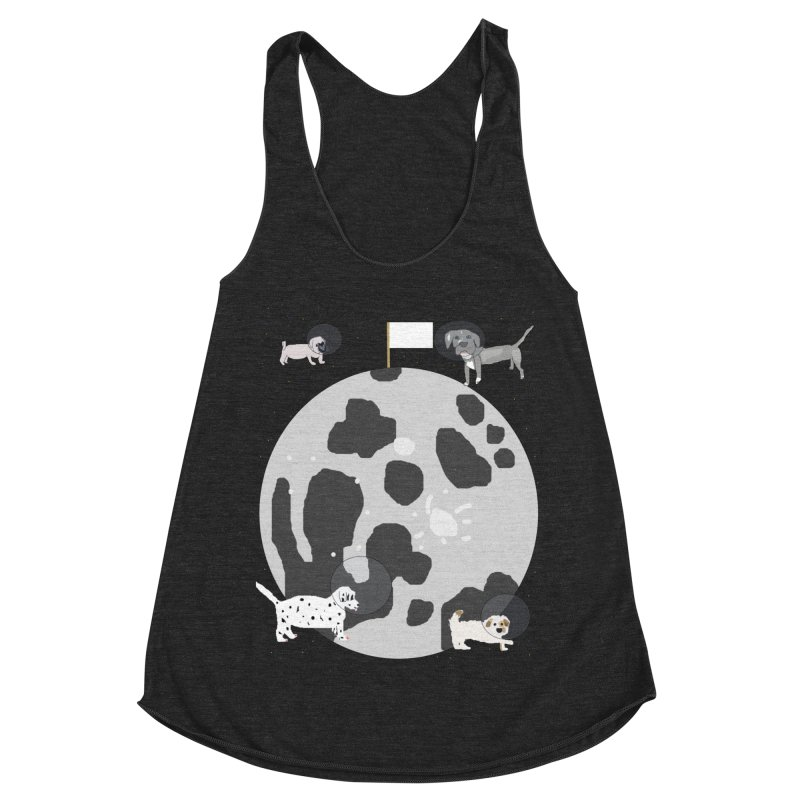Moon Puppies Women's Racerback Triblend Tank by Birchmark