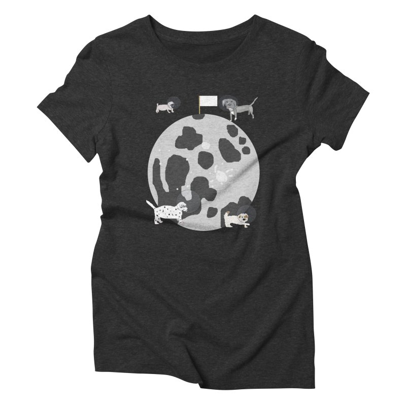 Moon Puppies Women's T-Shirt by Birchmark