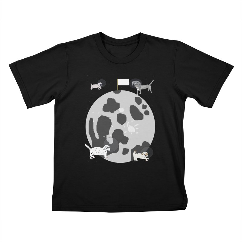 Moon Puppies Kids T-Shirt by Birchmark