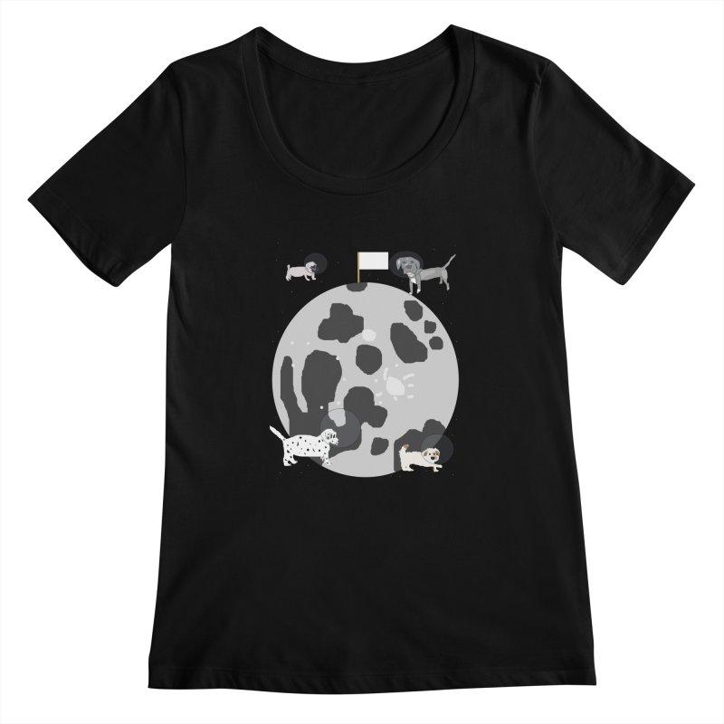 Moon Puppies Women's Scoopneck by Birchmark