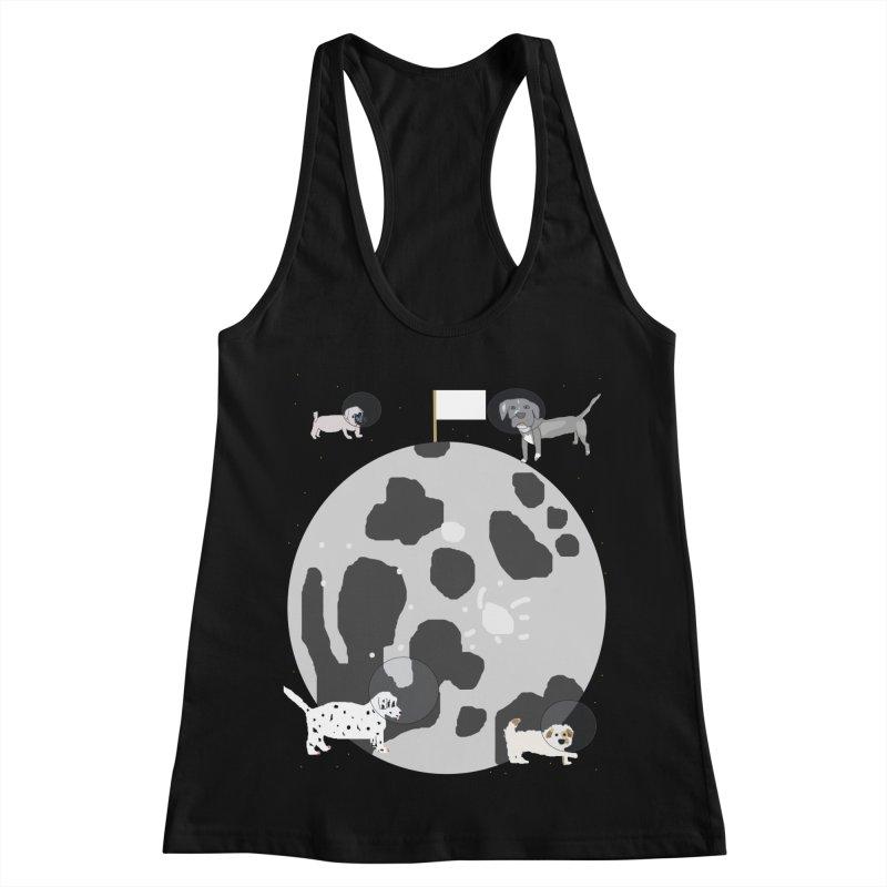 Moon Puppies Women's Racerback Tank by Birchmark