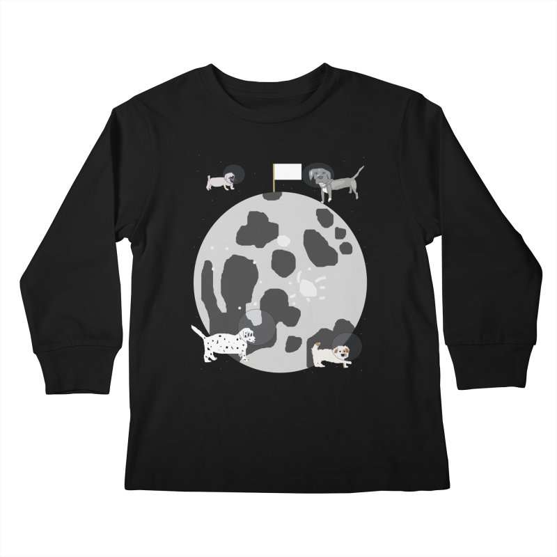 Moon Puppies Kids Longsleeve T-Shirt by Birchmark
