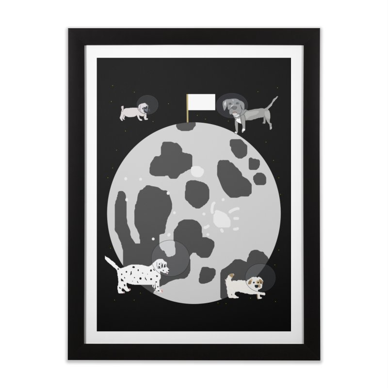 Moon Puppies Home Framed Fine Art Print by Birchmark