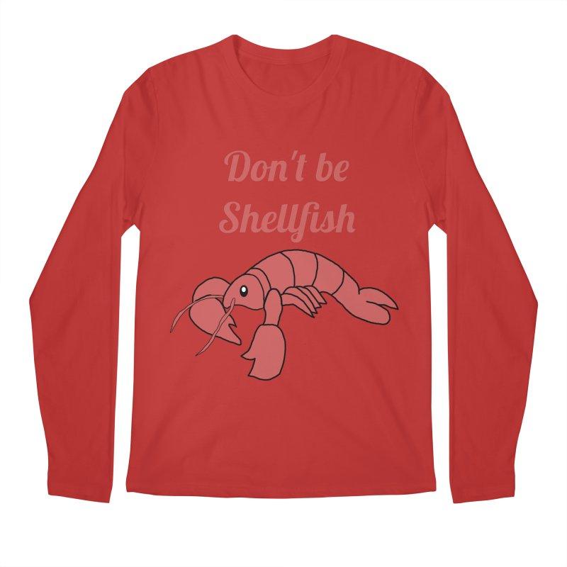 Shellfish Lobster Men's Regular Longsleeve T-Shirt by Birchmark