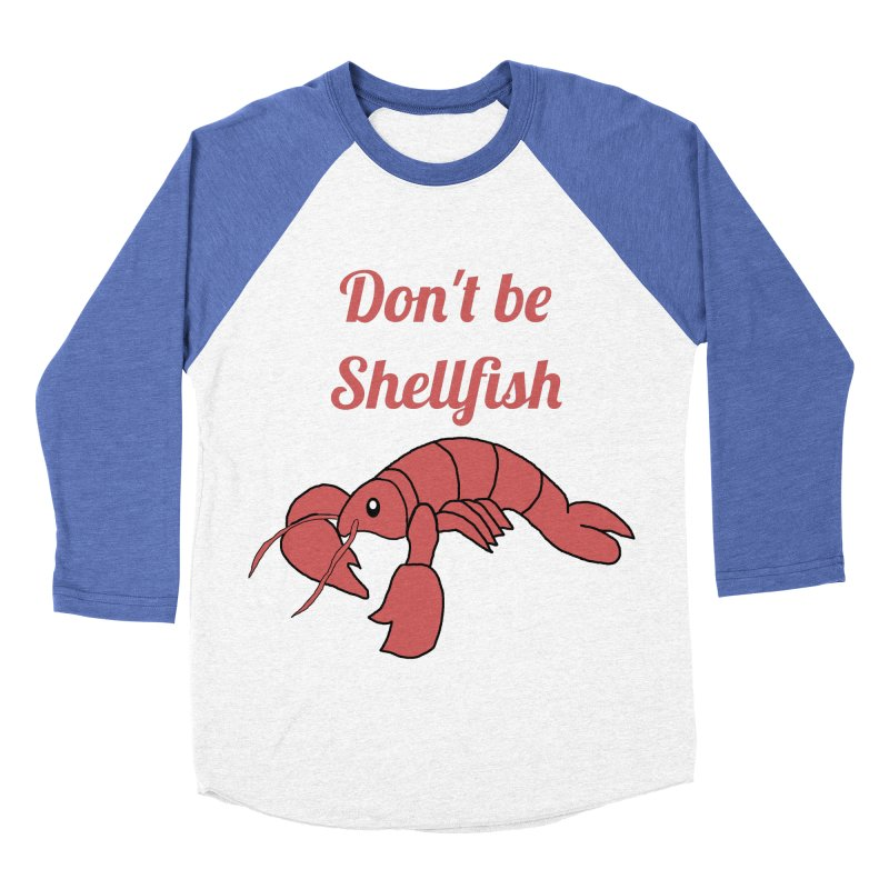 Shellfish Lobster Women's Baseball Triblend T-Shirt by Birchmark