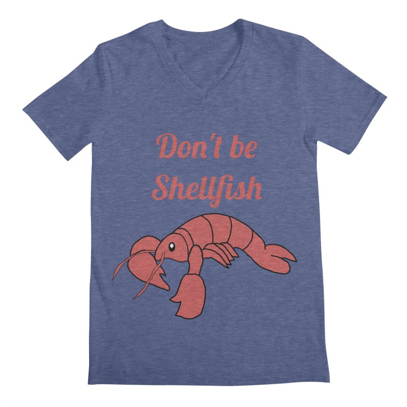 Shellfish Lobster Men's Regular V-Neck by Birchmark