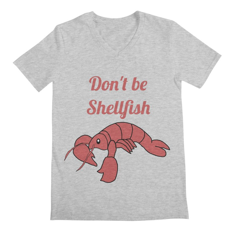 Shellfish Lobster Men's Regular V-Neck by Birchmark