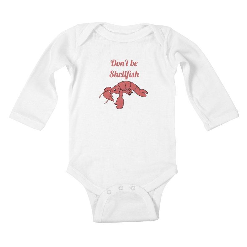 Shellfish Lobster Kids Baby Longsleeve Bodysuit by Birchmark