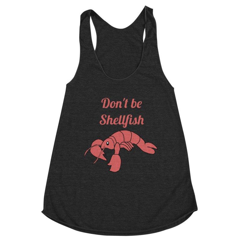 Shellfish Lobster Women's Racerback Triblend Tank by Birchmark