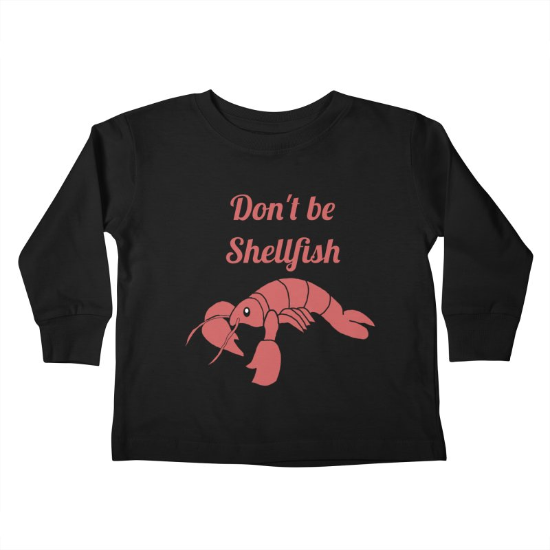 Shellfish Lobster Kids Toddler Longsleeve T-Shirt by Birchmark
