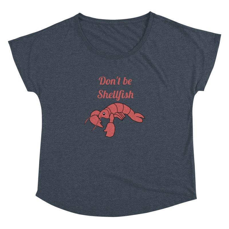 Shellfish Lobster Women's Dolman Scoop Neck by Birchmark