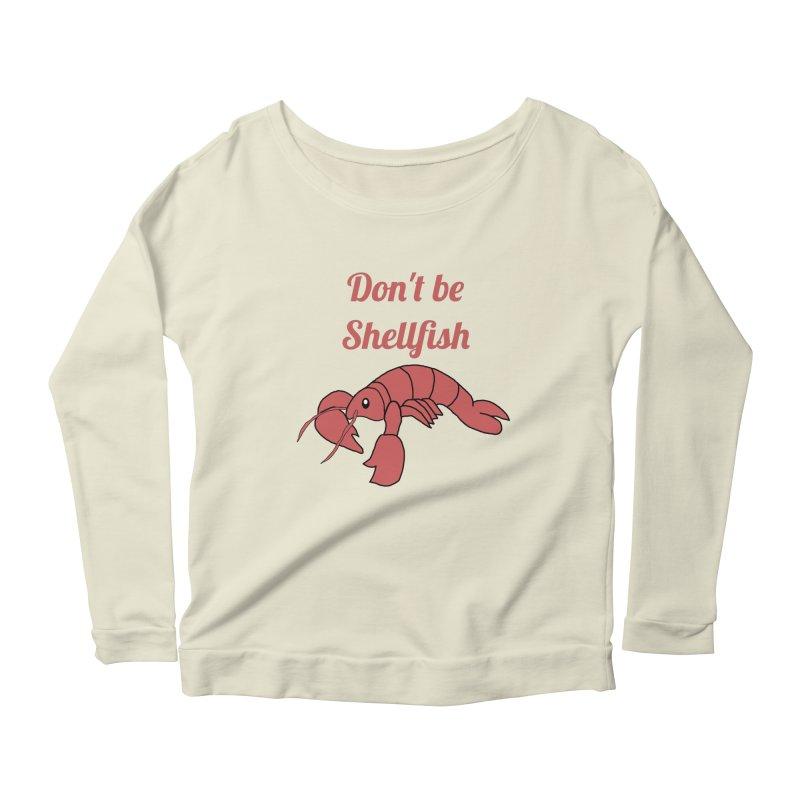 Shellfish Lobster Women's Scoop Neck Longsleeve T-Shirt by Birchmark