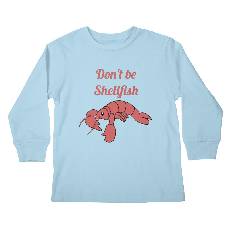 Shellfish Lobster Kids Longsleeve T-Shirt by Birchmark